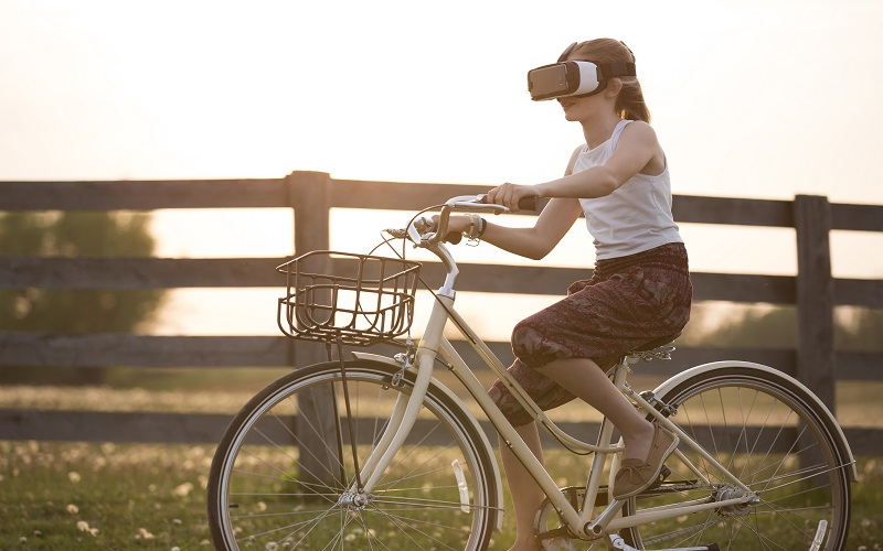 Depression - Riding Bike in Virtual Realty - Serene Self Psychotherapy Chandler AZ 800x500
